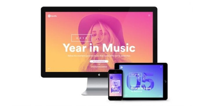 identidad visual de Year in Music (Spotify)